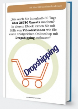 Dropshipping Business +eBook mit Videolehrgänge+Promo Video+Verkaufsseite+PLR